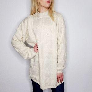 Vintage 80-90s Mock Neck Metallic Shimmer Sweater